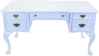 One Kings Lane Vintage Link Taylor White Lacquered Desk