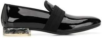 Alexander McQueen marbled heel loafers