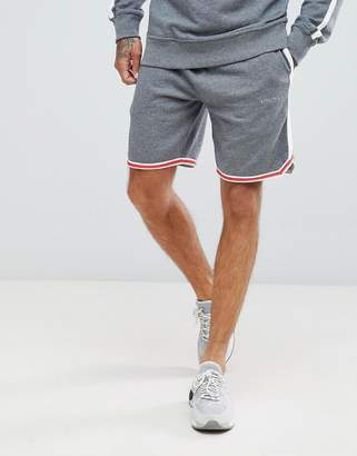 Diesel logo embroidered jersey shorts with side stripe