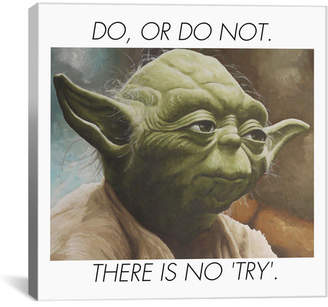 iCanvas Yoda Quote Painting Print on Canvas