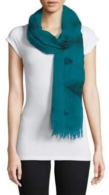 Eileen Fisher Rhombus Print Cotton-Blend Scarf