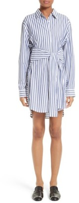 Women's T By Alexander Wang Stripe Tie Front Shirtdress $375 thestylecure.com