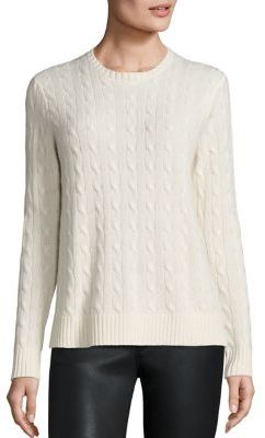 Polo Ralph Lauren Cashmere Cable-Knit Sweater $398 thestylecure.com