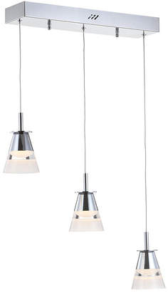 "Jonathan Y Designs Alain 19.5"" 3-Light Adjustable Cascading Metal Integrated Led Pendant"