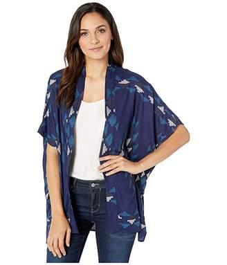Rock and Roll Cowgirl Short Sleeve Kimono B5K2053