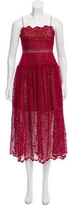 Self-Portrait Floral Lace Sleeveless Midi Dress w/ Tags