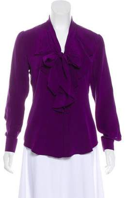 Lauren Ralph Lauren Silk Button-Up Top