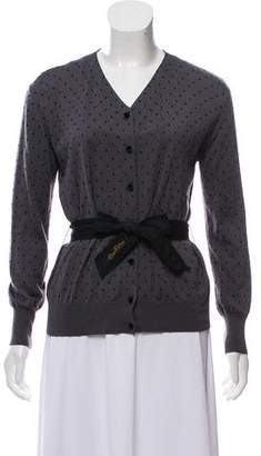 Louis Vuitton Polka Dot Cashmere & Silk-Blend Cardigan