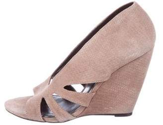 Elizabeth and James Suede Cutout Wedges