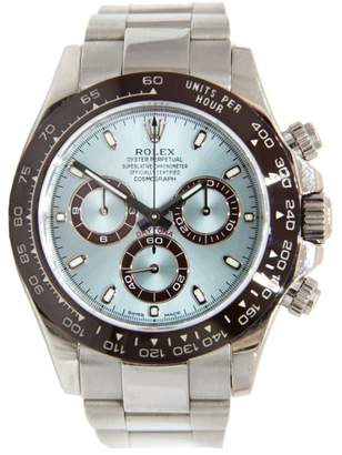 Rolex Daytona Platinum Bracelet & Case with Brown Bezel & Ice Blue dial 40mm $53,500 thestylecure.com