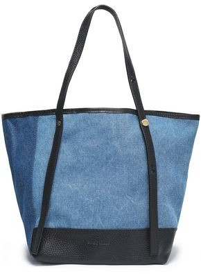 See by Chloe Leather-Trimmed Denim Tote