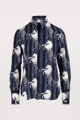 Chloé Horse print silk shirt