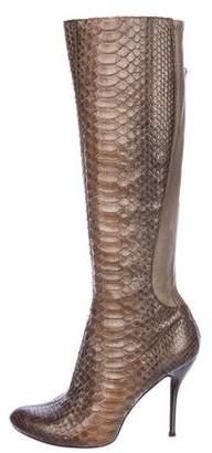Thomas Wylde Python Knee-High Boots