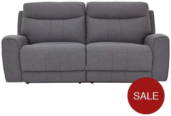 Violino Rossi 3-Seater Fabric Manual Recliner Sofa