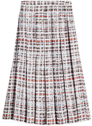 Burberry Farnborough Pleated Silk Skirt