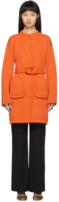 Gucci Orange Belted Cardigan