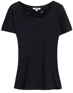 LnA Distressed Slub Cotton-Jersey T-Shirt