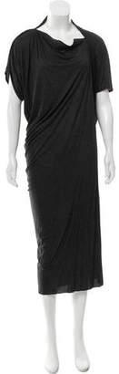 AllSaints Asymmetrical Midi Dress