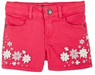 Ikks Kids' Floral-Embroidered Denim Shorts