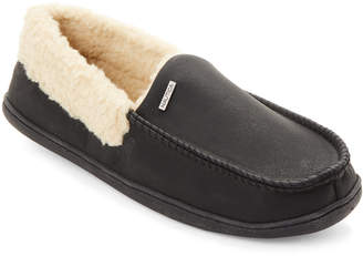 Nautica Black Delegal Moccasin Slippers
