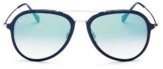 Ray-Ban Unisex Brow Bar Aviator Sunglasses, 57mm