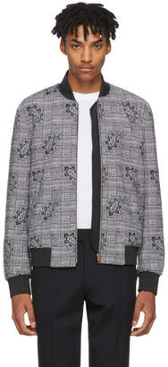Paul Smith Black Princes of Wales and Paisley Bomber Jacket