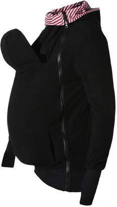 Mordarli Maternity Fleece Hoodie Baby Carrier Kangaroo Outwear Pregnant Women