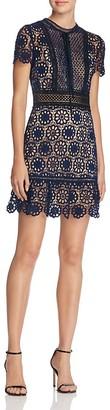 AQUA Lace Flounce Hem Dress - 100% Exclusive $118 thestylecure.com