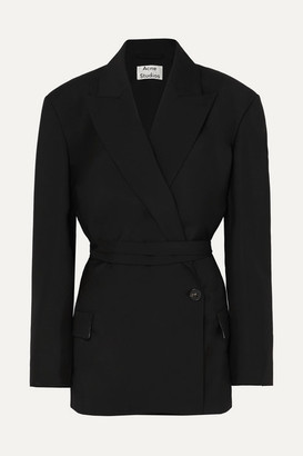 Acne Studios Jess Wool And Mohair-blend Blazer - Black
