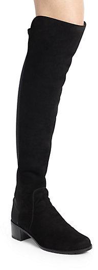 Stuart Weitzman Reserve Suede & Neoprene Over-The-Knee Boots