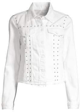 J Brand Slim-Fit Stud Denim Jacket