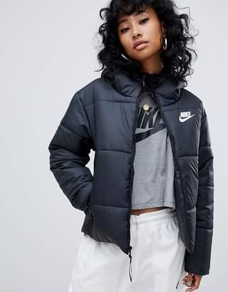 Nike Black Small Logo Padded Jacket e6bbd6195