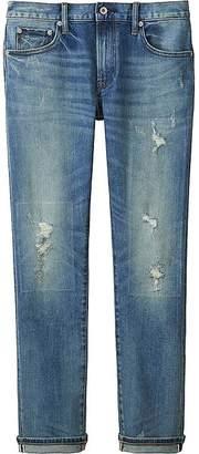 UNIQLO Men's Slim-fit Distressed Jeans $49.90 thestylecure.com