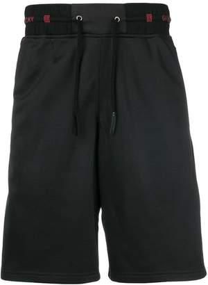 Givenchy logo waistband track shorts