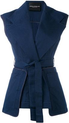 Erika Cavallini belted vest $403.64 thestylecure.com