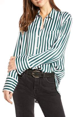 Treasure & Bond Stripe Boyfriend Shirt