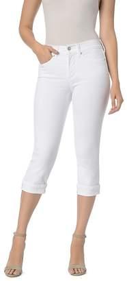 NYDJ Marilyn Cuffed Crop Jeans in Optic White