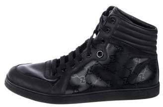 Gucci Guccissima High Top Sneakers
