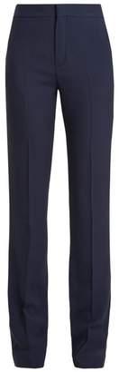 Chloé - High Waist Cady Trousers - Womens - Navy
