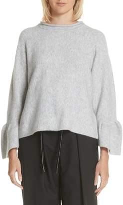 3.1 Phillip Lim Ruffle Cuff Wool Blend Pullover