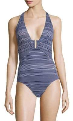 Heidi Klein One-Piece Jacquard Swimsuit