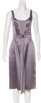 Martin Grant Satin Sleeveless Midi Dress w/ Tags Satin Sleeveless Midi Dress w/ Tags