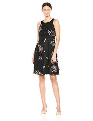 Nine West Women's Halter Neck Fit and Flare Dress