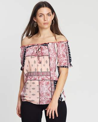 Dorothy Perkins Tile Print Gypsy Top
