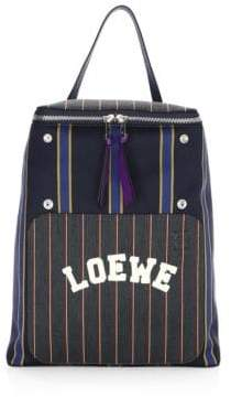 Loewe Goya Striped Varsity Backpack