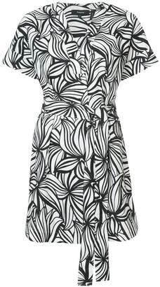 Theory printed wrap dress