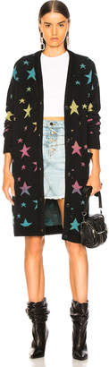 Amiri Star Long Cardigan in Black & Rainbow | FWRD