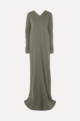 Rick Owens Cotton-jersey Maxi Dress - Gray