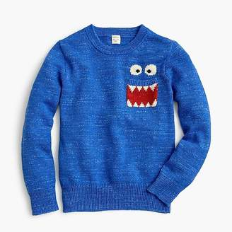 J.Crew Max the MonsterTM boys' cotton crewneck sweater