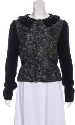 Alberta Ferretti Embellished Tweed Jacket